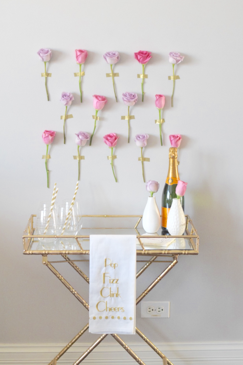 Diy Flower Wall Alice S Table