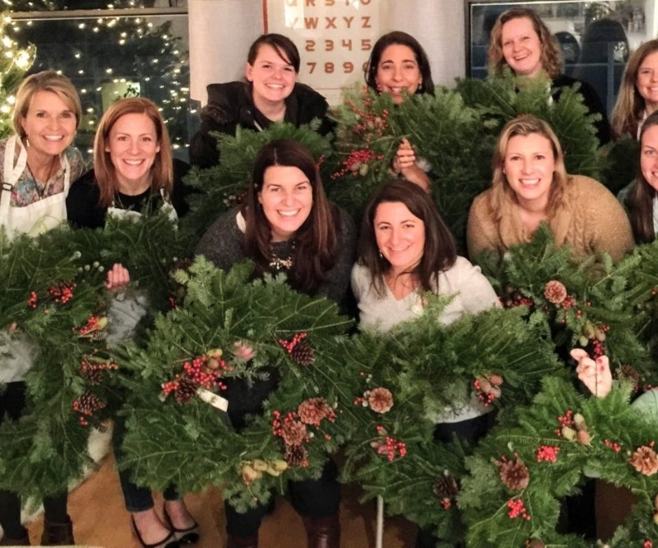 fresh holiday wreaths at nordstrom irvine spectrum - Nordstrom Christmas Eve Hours