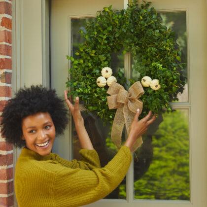 Autumn Boxwood Wreath