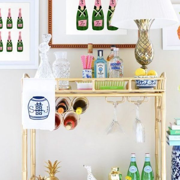 A Party on Wheels: Designing A Pinterest-Perfect Bar Cart