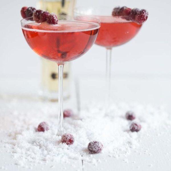 Cran-Raspberry Wine Spritzer