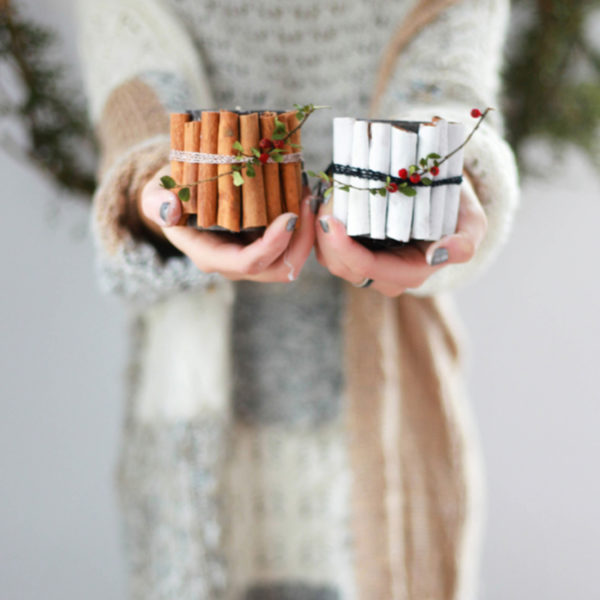Holly Jolly DIY: Cinnamon Stick Candles