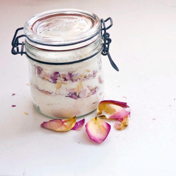 DIY Rose Petal Bath Salts