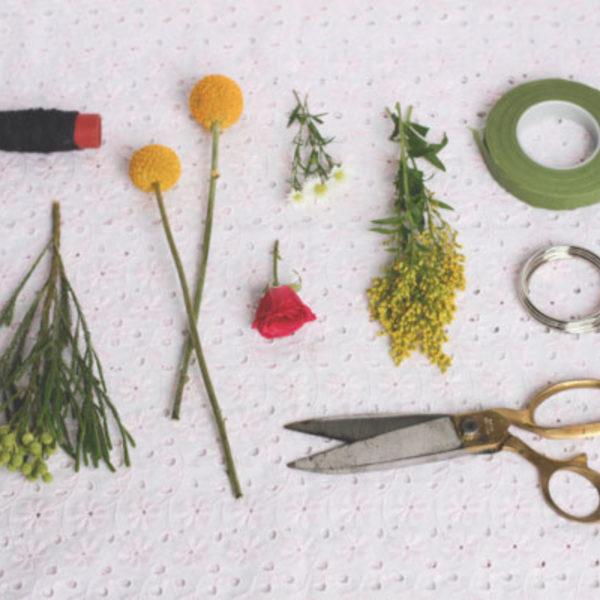 DIY: Fresh Flower Napkin Rings