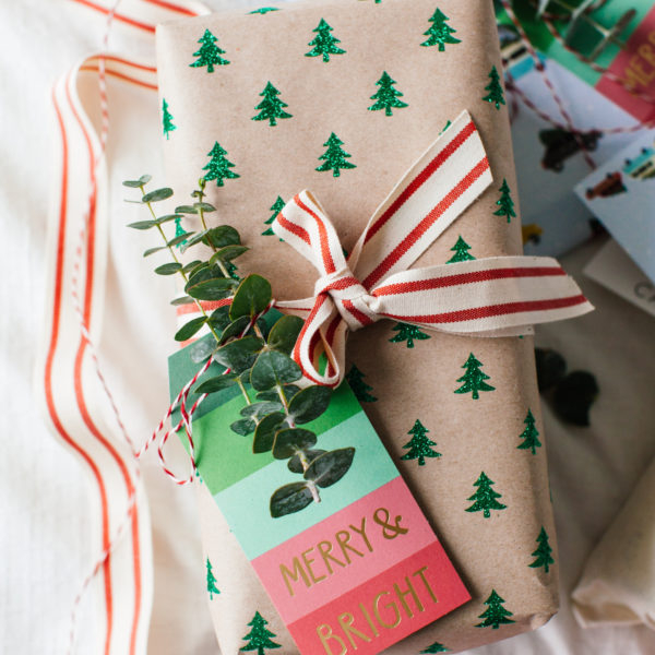 Holiday Gift Wrapping with Eucalyptus