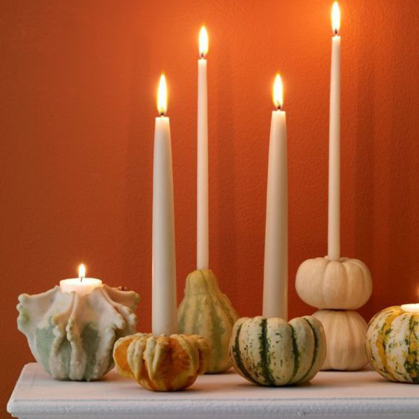 DIY Gourd Candle Holders