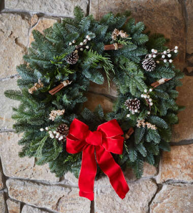 Frosted Evergreen Wreath