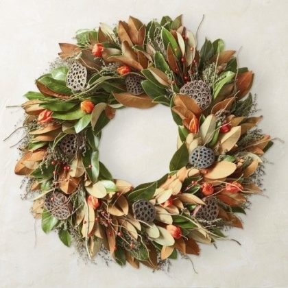 Harvest Wreath with Alice's Table