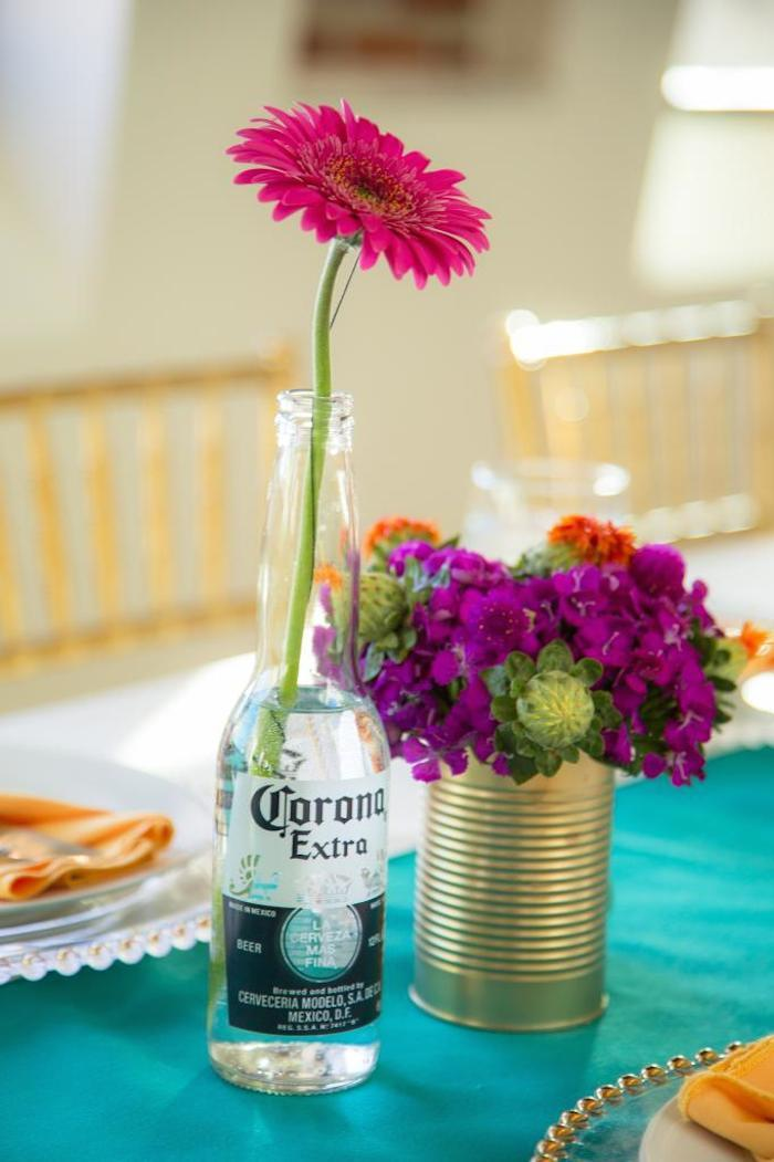 Diy Beer Bottle Flower Vase Alices Table